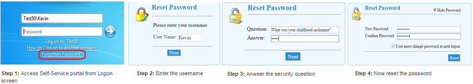 Self Reset Password by Question and Answers