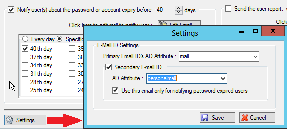 Password Expiration Notifier